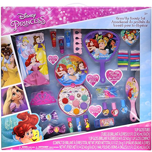 TownleyGirl Disney Princess Cosmetic Set with Nail Polish, Lip Gloss, Press-On Nails, Sandals, Toe Separators, and (Gloss Spa Polish)