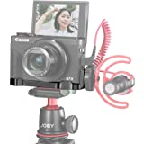 UURig R016 C-G7X Mark III Vlog Camera Cold Shoe Extension Microphone Side Mount for Canon G7X Mark III Camera, 1/4…