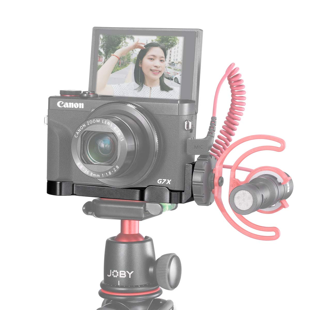 UURig R016 C-G7X Mark III Vlog Camera Cold Shoe Extension Microphone Side Mount for Canon G7X Mark III Camera, 1/4'' Tripod Mount, Vlogging Accessories by UURig
