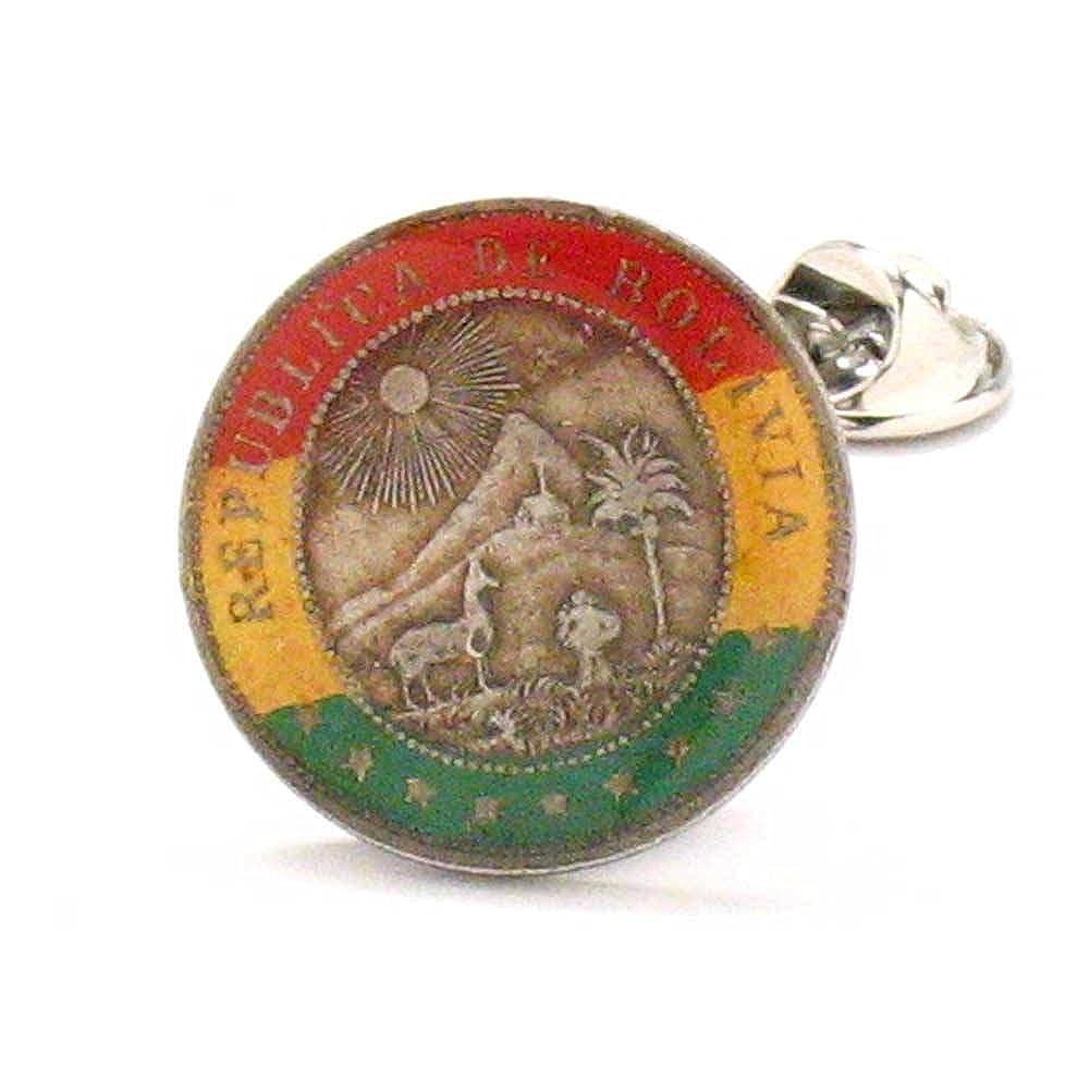 Amazon.com: Bolivia Coin Tie Tack Lapel Pin Suit Flag La Paz ...