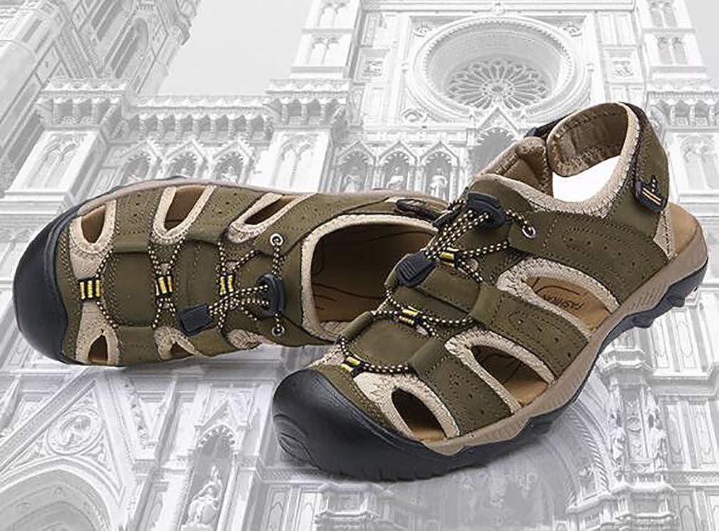 YVWTUC Mens Summer Breathable Sandals Comfortable Non-slip Wear-resistant Beach Shoes