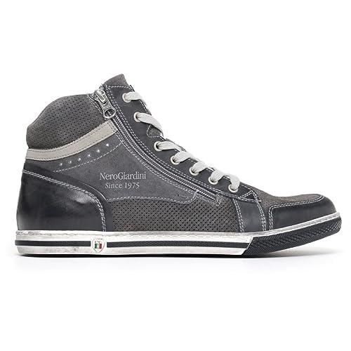 118e15f288 Nero Giardini Uomo Sneakers Blu (Oceano) P800252U Scarpe in Pelle ...