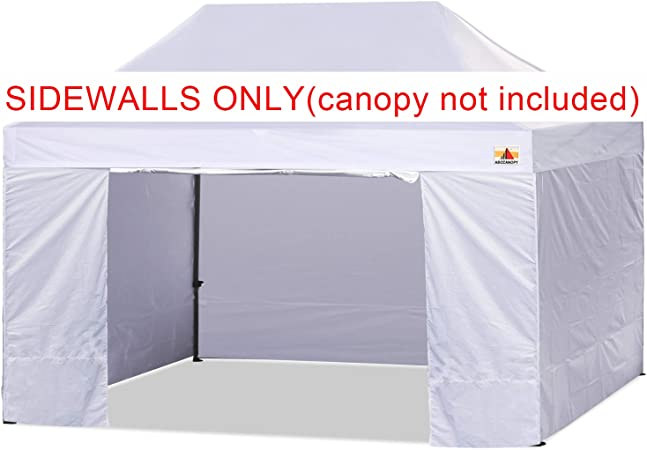 Amazon Com Abccanopy Sidewall Kit Paint Booth Side Walls For 10x15 Feet Pop Up Canopy Beach Tent Instant Shelter 4 Walls Only White Garden Outdoor