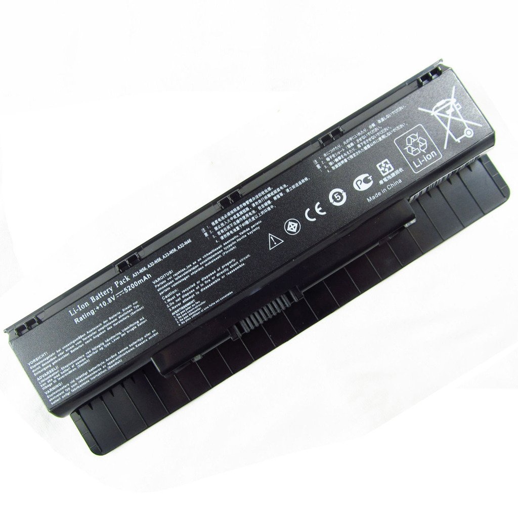 Zgszmall replacement 6 Cell Battery for Asus N46 N46V N56 N56V N56VJ N56VZ N76 N76V A31-N56 A32-N56 A33-N56 10.8V 5200mAh