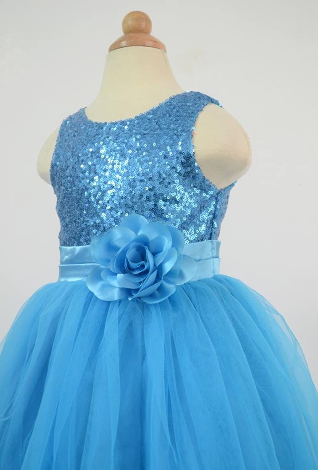 Amazon bow dream flower girls dress sequins tulle clothing ombrellifo Choice Image