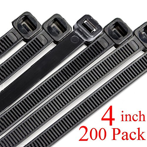 - Harileminy 4 Inch Cable Zip Wire Ties Heavy Duty 200 Pieces Self-Locking Ultra Strong tiny Small Plastic Wire Ties Tensile Strength Nylon Cable Tie Wraps Width in Black White UV Resistant