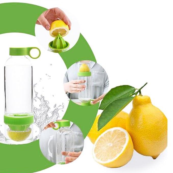 800 ml botella de agua Deportes taza con infusor de limón exprimidor taza - añadir el Vitaminas que necesitas y H2O - Botella de agua para la escuela, ...
