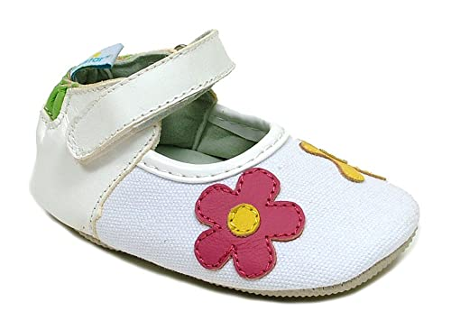 Amazon ministar girls explorer baby toddler first walker amazon ministar girls explorer baby toddler first walker white with flowerscanvasleather shoes small 0 6 mo sneakers mightylinksfo