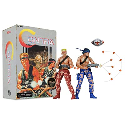 "Contra Bill & Lance Video Game Appearance 7"" Action Figure 2-Pack: Toys & Games"