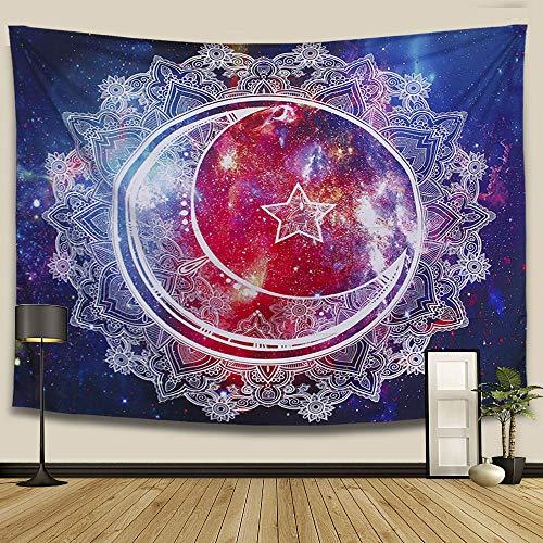 ARFBEAR Starry Sky Tapestry, Mandala Bohemian Tapestry Wall Hanging Wall Art Decoration for Bedroom Living Room Dorm 59 X 51