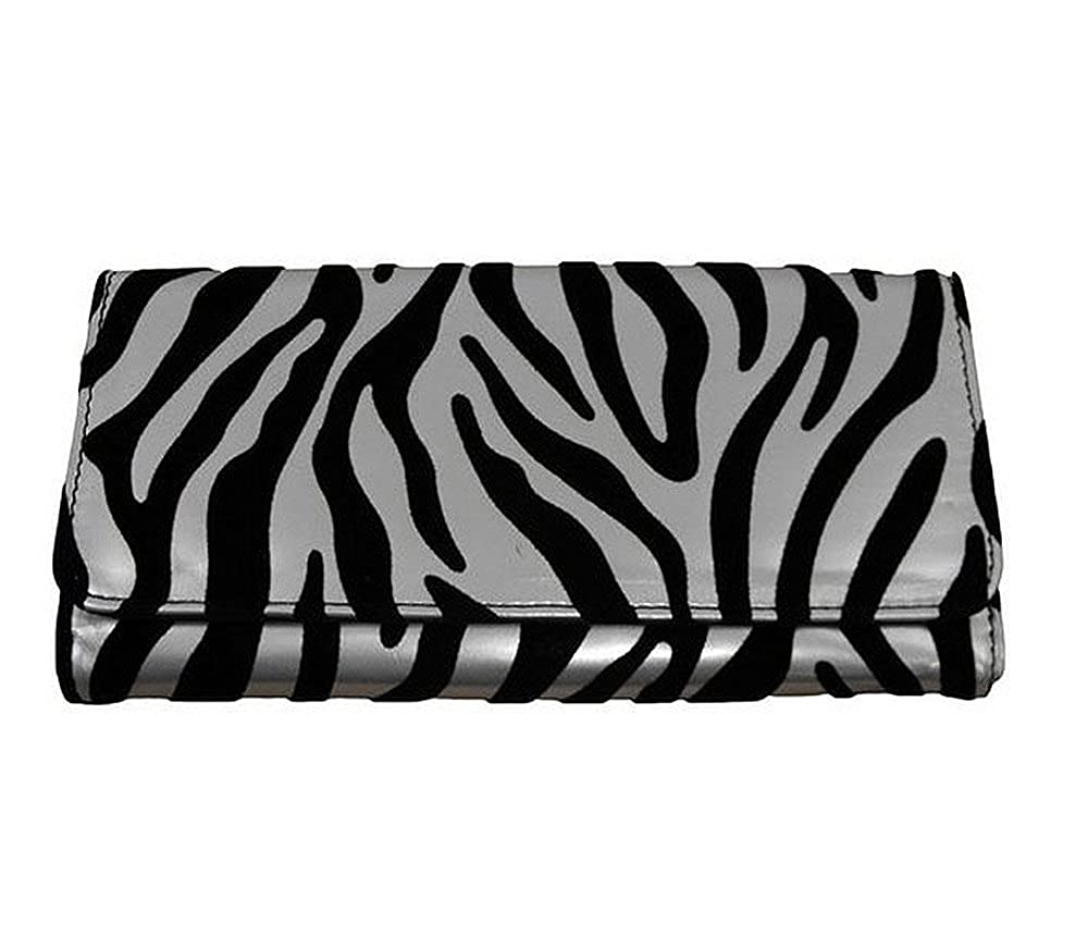 Enimay Women's Ladie's Zebra Checkbook Wallet Clutch (3 Colors Available)