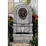 Jeco Classic Lion Face Stone Finish Wall Water Fountain