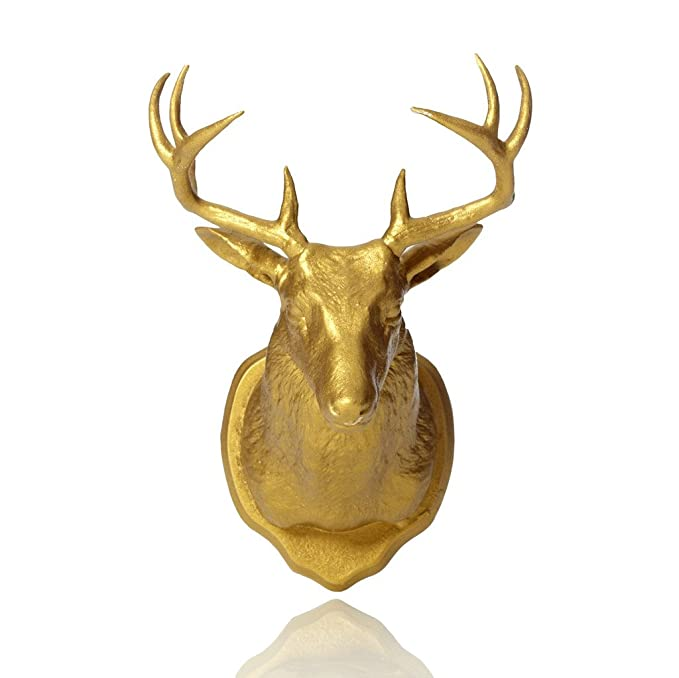 Amazon.com: Urban Taxidermy Magnet and Wall Hook Deer - Gold: Home ...