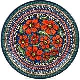 Polish Pottery Dinner Plate 11-inch Poppies UNIKAT