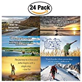 6 Unique Inspirational Poster Design Assorted?(6 X 4 pcs each - Pack of 24) Collection of motivational posters that are sure to encourage you and everyone!• Amazing design posters• Nice piece of encouragement.• Come with inspirational and uplifti...