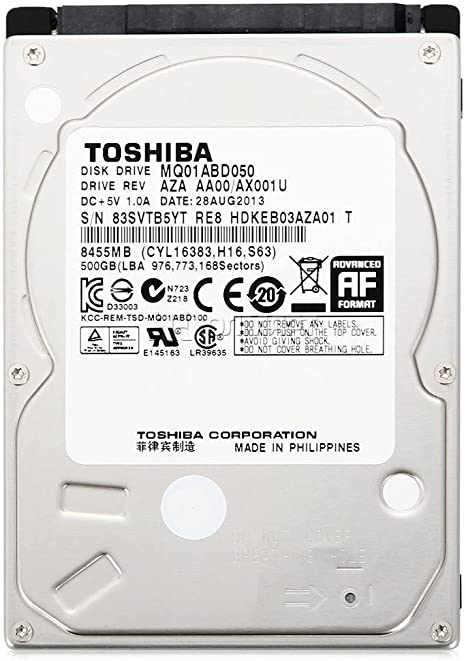 Toshiba MQ01ABF050 - Disco Duro Interno de 500 GB (5400 RPM, 2.5 ...