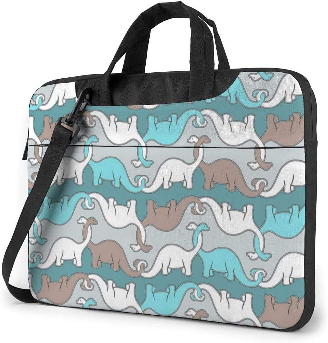 Blue Dinosaur Shockproof Laptop Shoulder Messenger Bag Laptop Case Sleeve Laptop Briefcase Business Handbag