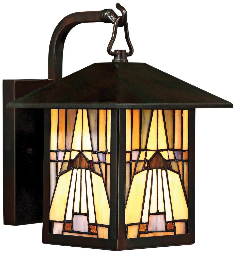 Quoizel One Light Outdoor Wall Lantern TFIK8407VA, Small, Valiant Bronze