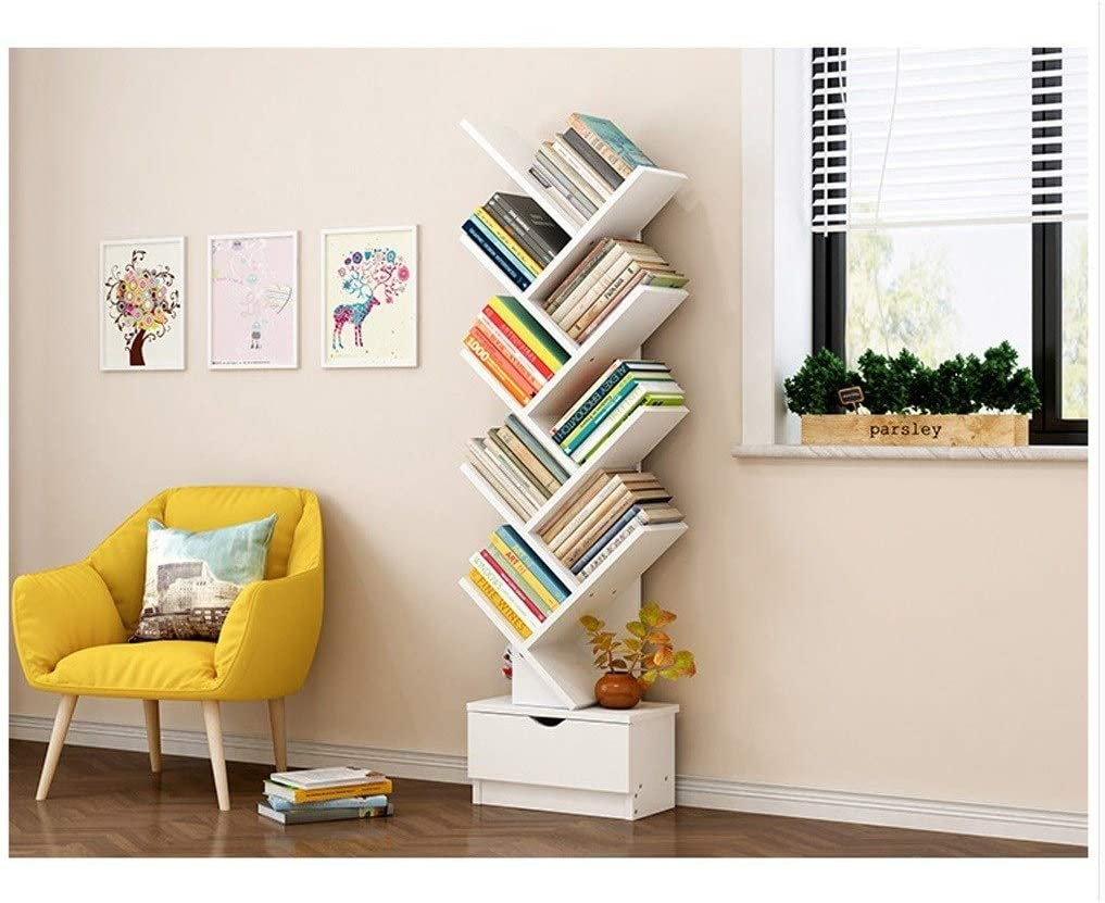 Librerías Estantería con Forma de árbol Armario de Almacenamiento Estante de Piso Simple y Moderno Estantería Simple Librerías (tamaño : 97cm): Amazon.es: Hogar