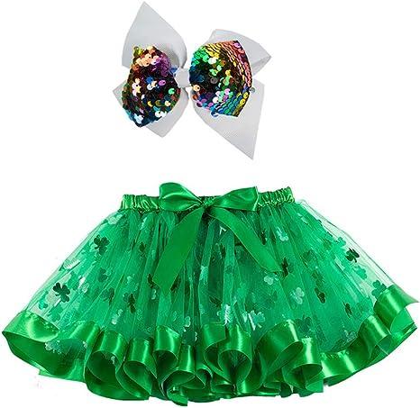 Amosfun Falda de tutú para niños del día de San Patricio Vestido ...