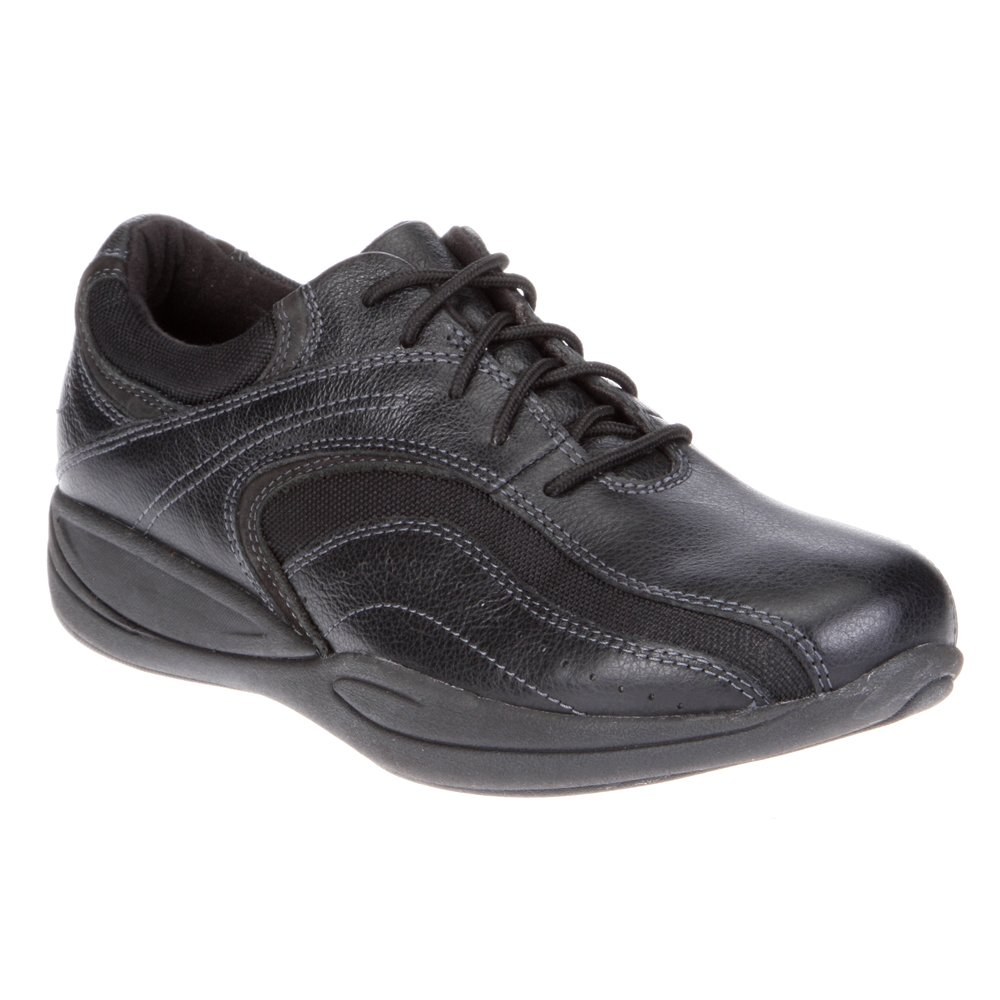 Xelero Madera Women's Comfort Therapeutic Extra Depth Casual Shoe: Black 8.5 Wide (D) Lace