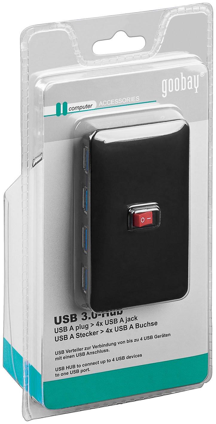 activejet USB 3.0 Hub inkl. Netzteil schwarz: Amazon.de: Computer ...