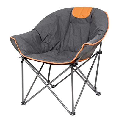 Suntime Leisure Moon Folding Camping Chair Stable and Portable to Carry(Orange) : Sports & Outdoors