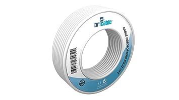 Bricable BC22216608 - Cable para alarmas, interfonos y porteros electrónicos, Color Blanco
