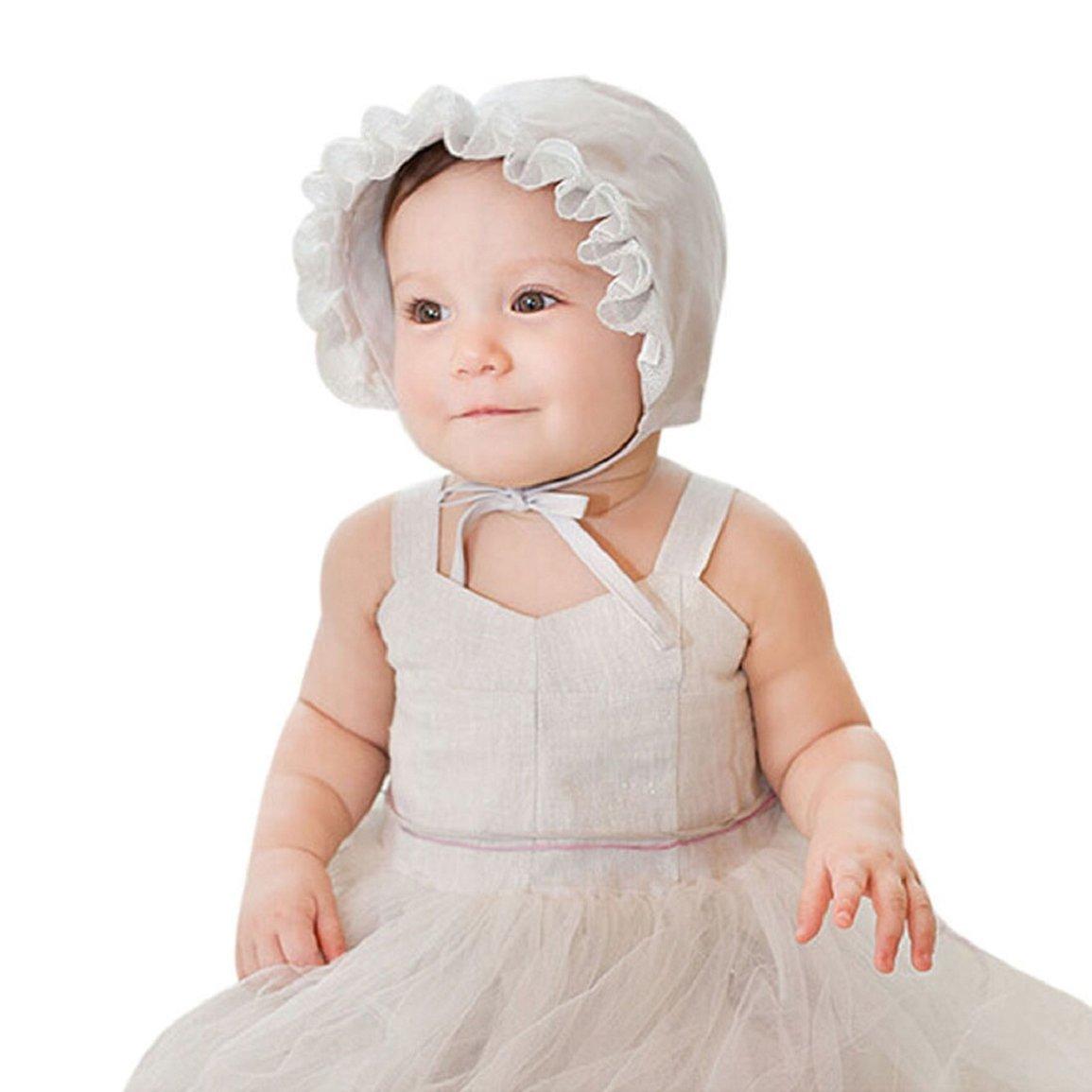 Culater® Cappello Infantile Della Neonata Bella Principessa Del Merletto Berretto Estivo (Rosa)