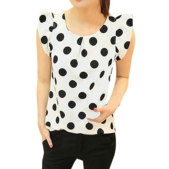 Camisa de manga corta de la gasa de la blusa de la gasa de 2018 mujeres