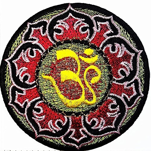 Aum Om Yoga Hindu Infinity patch Symbol Jacket T-shirt Patch Sew Iron on Embroidered Sign Badge Costume. 3.25 x 3.25 - Nyc Infinity Store Clothing