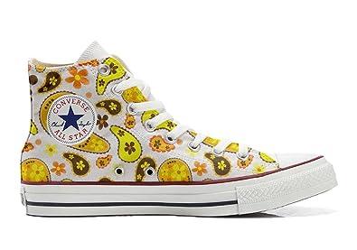 Converse Custom - personalisierte Schuhe (Handwerk Produkt) Hippie Paisley  35 EU