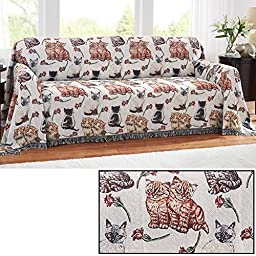 Cat Tapestry Sofa Furniture Cover, Sofa, Cats, kittens, Polyester & Polyester Blend