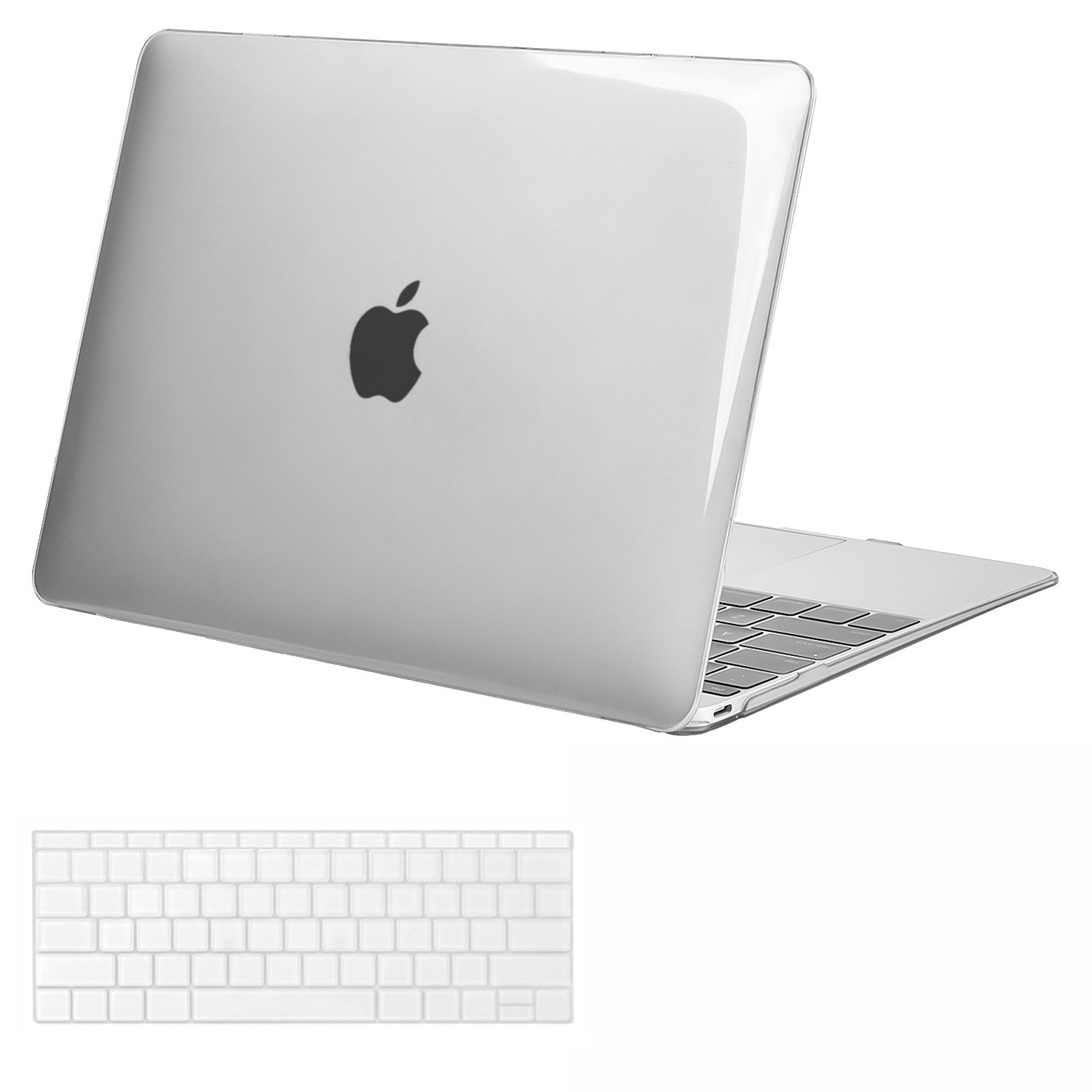 MOSISO Plastic Hard Shell Case & Keyboard Cover Compatible MacBook 12 Inch Retina Display Model A1534 (Newest Version 2017/2016/2015), Crystal Clear