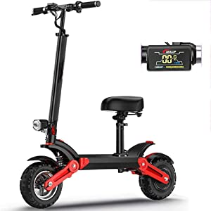 WXX Portable Fold Electric Scooter,500W Motor Dual Hydraulic Shock Absorbers Scooter 12 Inch Explosion-Proof Vacuum Tire Scooter 150KM Battery Life,150KM