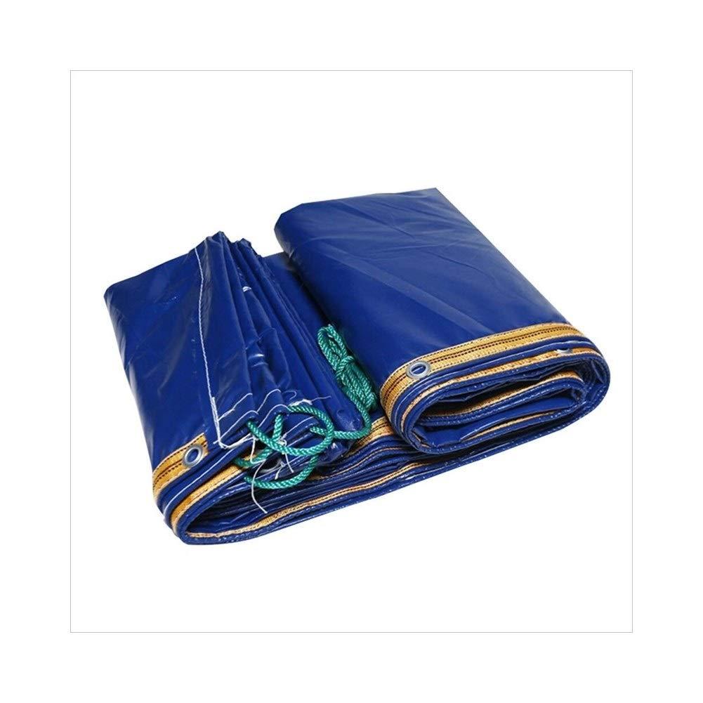 MDBLYJAuvent Pare Soleil et Tissu Froid BÂche Bleue de Camion, natte de Pique-Nique de bÂche épaisse imperméable à la Pluie, Isolation de Cargaison de Prougeection Solaire et résistant à l'usure, Bleu 3x5m