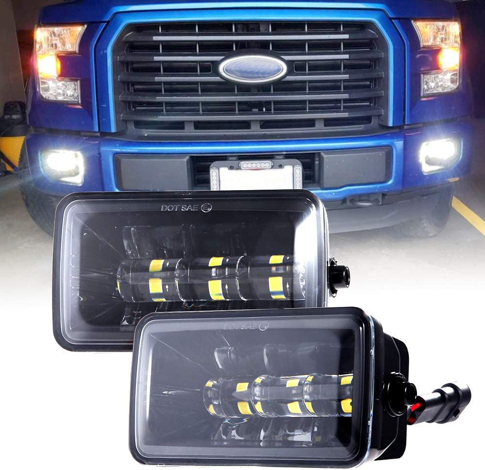 Upgrade LED Fog Lights for 2015-2019 Ford F150 4 Inch LED Fog Light Assembly Kit,36W Waterproof LED Bumper Lamps Set-1 Pair