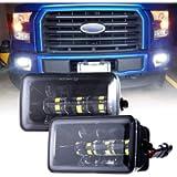Upgrade LED Fog Lights for 2015-2019 Ford F150 4 Inch LED Fog Light Assembly Kit,36W Waterproof LED Bumper Lamps Set-1…