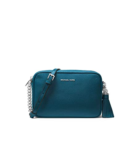 561ba4cc88ed Image Unavailable. Image not available for. Color  Women s Accessories Michael  Kors Teal Ginny Medium Crossbody ...