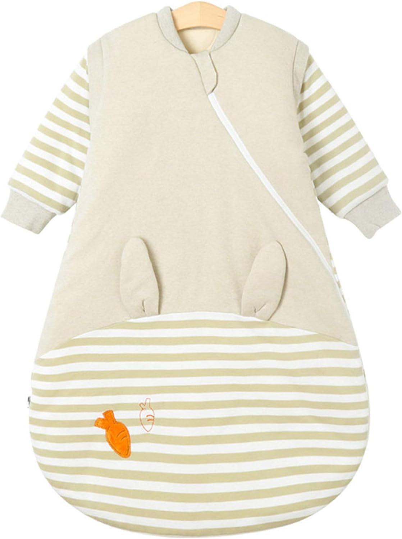 Orange Lion 80//1-2 Years Chilsuessy Baby Winter Sleeping Bag Kids Sleeping Bag 2.5 Tog Wearable Blanket Sleeping Sack with Removable Long Sleeves Toddler Sleeping Bag with Legs