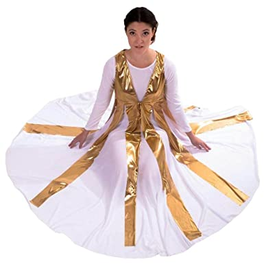 2f36dd71bd0 Amazon.com  Danzcue Womens Metallic Streamer Tunic (Dress not Included)   Clothing