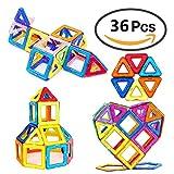 Magnetic Building Blocks, 36 PCS Educational Stacking Blocks 3D Toddler Toys Preschool Boys