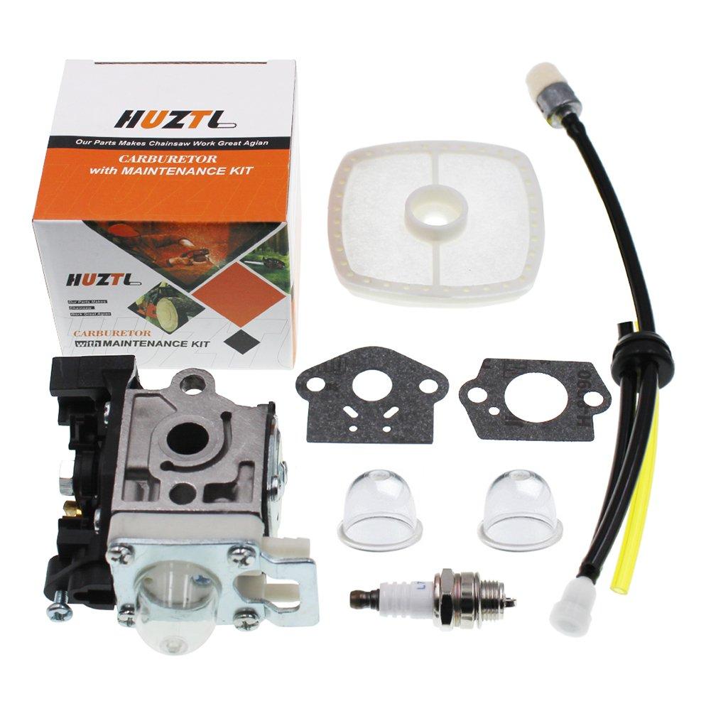 HUZTL Carburetor for Echo GT225 GT225i GT225L PAS225 PE225 PPF225 SHC225 SRM225 SRM225U Trimmer with Repower Maintenance Kit Spark Plug by HUZTL
