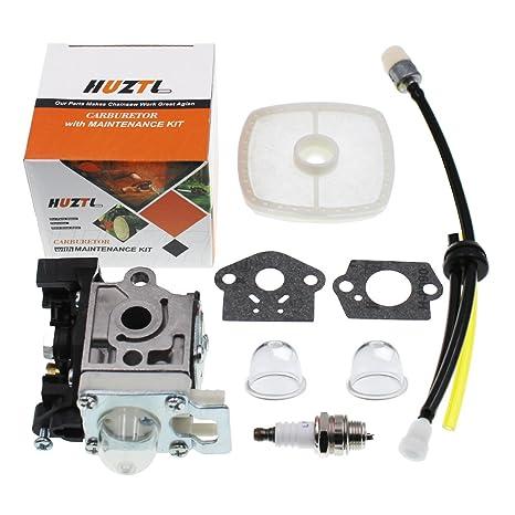 HUZTL Carburetor for Echo GT225 GT225i GT225L PAS225 PE225 PPF225 SHC225  SRM225 SRM225U Trimmer with Repower Maintenance Kit Spark Plug
