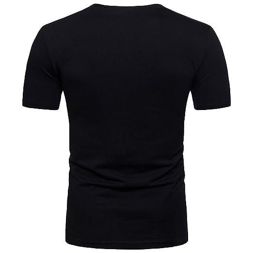 329c0b608238 Chanyuhui Men's Shirts Personality Fit Slim V Neck Short Sleeve Basic T-Shirt  Tees Shirts Tunic Tops Pullover Blouses