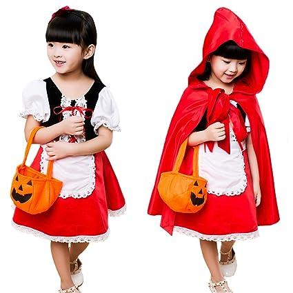 19672f784b88e Neky ハロウィン 仮装 子供 赤ずきん コスプレ衣装 女の子 赤ずきんちゃん ハロウィーン キッズコスチューム 5