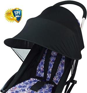 ALIAN Copertura per passeggino in tessuto anti-UV Yunt Baby copertura per tettuccio universale per tendalino parasole (nero) protezione antivento antipioggia per protezione solare Accessori universali