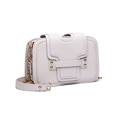 b08f863e1f26 Miss Lulu Women Casual Style Crossbody Shoulder Chain Bag with Multi  Compartments Clasp Closure Clutch Handbag