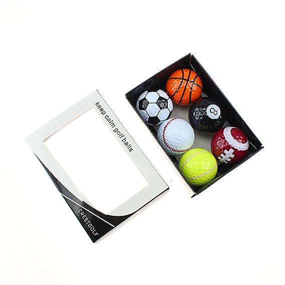 crestgolf Deportes Pelota de golf, 6 unidades con caja de ...