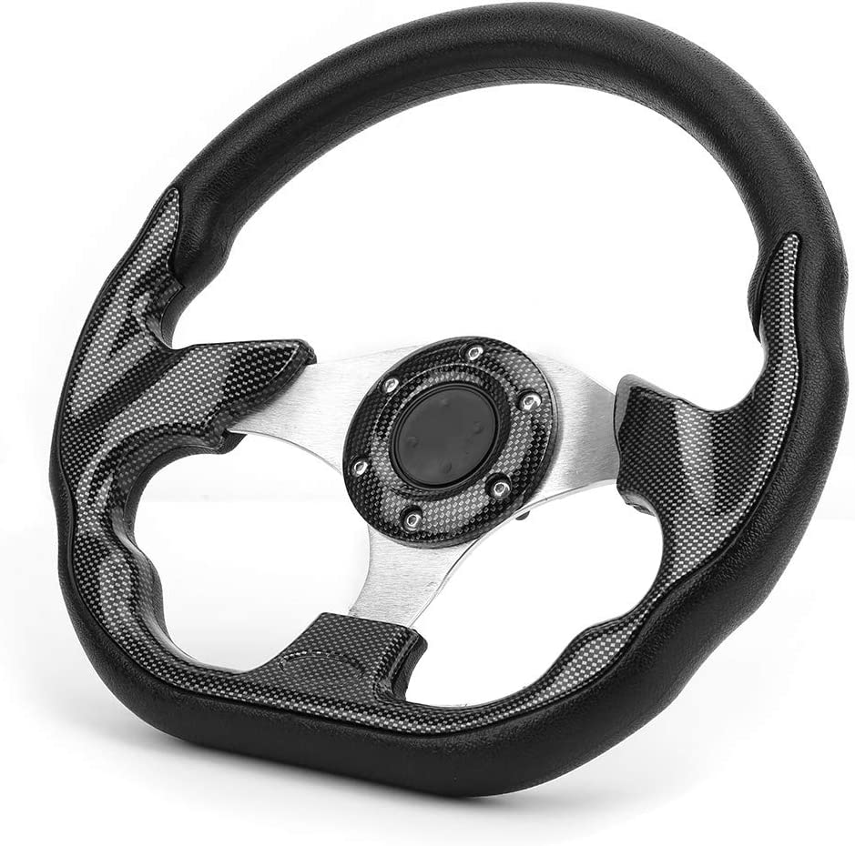 Gorgeri 320MM Universal Car Steering Wheel Carbon Fiber Style Racing Drift with Horn Button